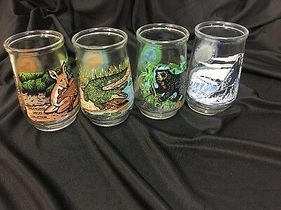 """Welch's Endangered Species Collection Of Glasses 4 1/8"""" Tall B"""