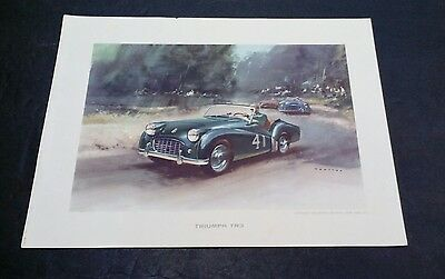 Vintage 1958 TRIUMPH TR3 by Sports Car Prints, New York