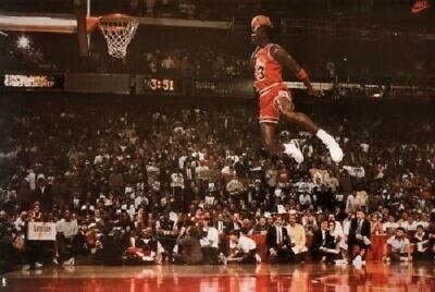 "Michael Jordan Wings art collage Poster 24 x 36""  Chicago Bulls"
