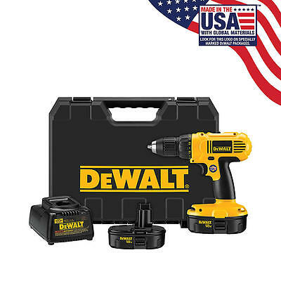 DeWalt 18 V 1/2 In. (13mm) Cordless Compact Drill/Driver Kit Free Shipping New