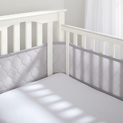 New BreathableBaby Ultra Luxe Breathable Mesh Crib Liners - Gray Model:23439627