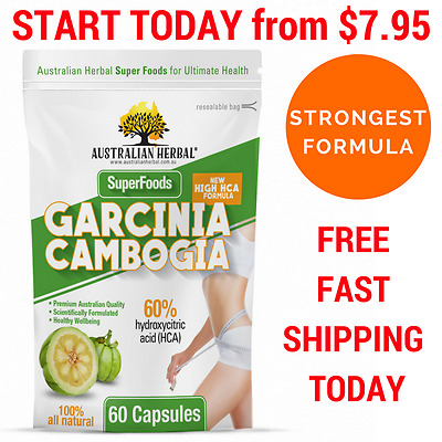 From $7.95* 100% Pharma Garcinia Cambogia  WEIGHT LOSS FAT BURNER - AUST STOCK