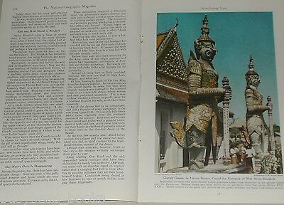 1947 magazine articles, SIAM, Post WWII, Thailand, Ramayana, color photos