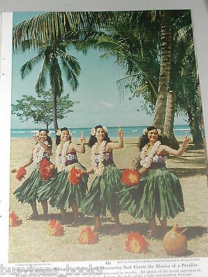 1954 magazine article, Honolulu HAWAII, history, natives, color photos