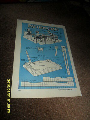 1955 Patterncraft Children's Dinette Set 2 Page How To