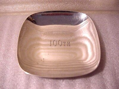 Tiffany & Co. 25086 Sterling 100th Anniversary Square Tray