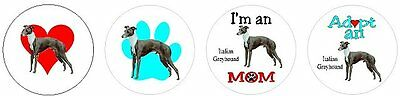 Assortment of 252 Italian Greyhound stickers seals