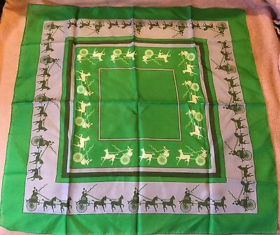 Horse Drawn Gig Coaching Scarf Green and Purple