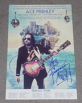 ACE FREHLEY SIGNED ORIGINS VOL 1 2016 US TOUR PROMO POSTER 11x17 inches KISS