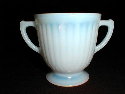 MacBeth Evans Depression Glass Monax PETALWARE Sugar Bowl