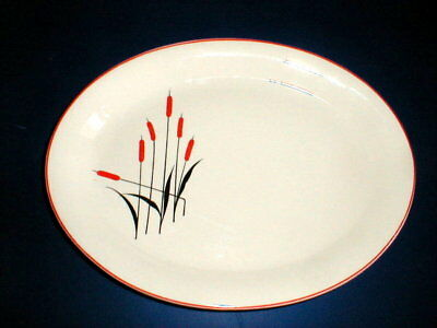 """Universal Pottery CATTAIL 11 1/2"""" Oval Serving Platter"""