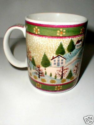 Block China COUNTRY VILLAGE Winter Coffee Cup/Mug