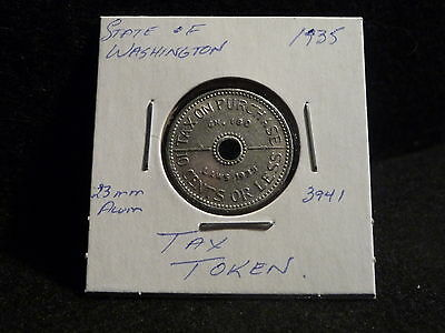 1935  STATE of WASHINGTON  TAX TOKEN  10CENTS OR LESS   (EF)  (#3941)