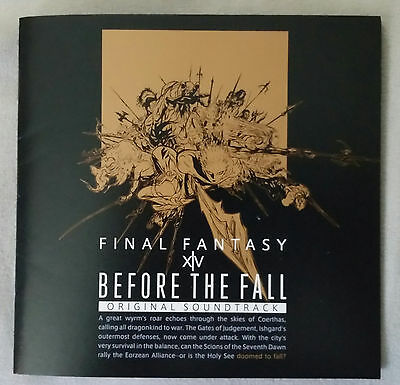 USED - NO CODE - Final Fantasy XIV Before The Fall Original Soundtrack (Blu-Ray)