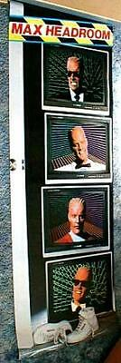 MAX HEADROOM Large 6 Foot Display Poster 1987