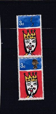 GREAT BRITAIN 1966 CHRISTMAS 3d  DOUBLE QUEEN'S HEAD ERROR SG.713ab CAT £650 MNH