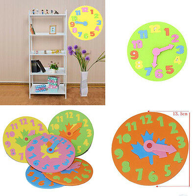 1PCS Foam Number Clock Time Puzzle Children Baby Kids Learning Educational Toy