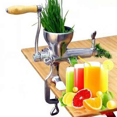 Stainless Steel Wheat Grass Leafy Vegetables Juicer Hand Crank for Home UK Ship