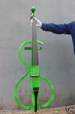 Electric Cello Solid wood powerful sound Green Powerful Sound Bag bow #1808