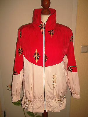 vintage 80`s MDC Trainingsanzug Nylon track suit golf tennis glanz oldschool S