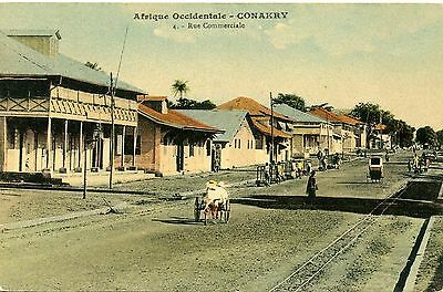 Carte Postale / / Conakry / Guinee Francaise / Rue Commerciale
