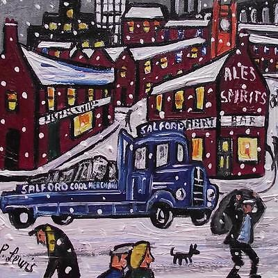 Coal Delivery Stockport : Original Northern Art Oil Painting : Phil Lewis