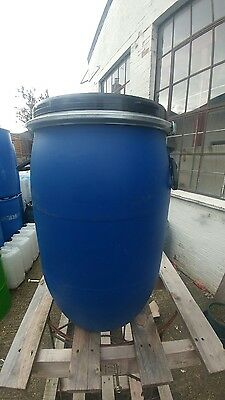 30L Litre Open Top Plastic Barrel, Keg, Drum  storage container