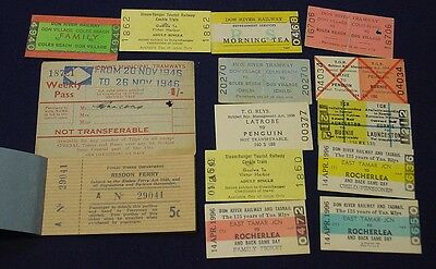 Tasmanian Railway & Ferry tickets and passes.