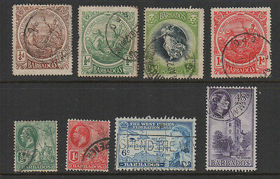 Barbados, selection of 8 fine used.
