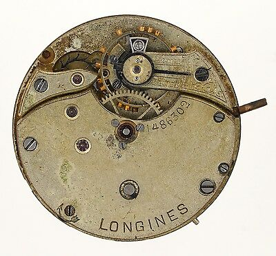 Longines Swiss Lever Fob Watch Movement Spares & Repairs W12