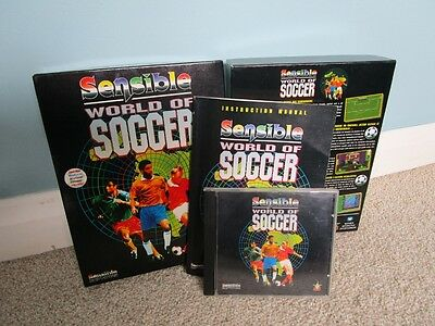 Sensible World Of Soccer - PC CD ROM - Box & Manual Only - Excellent Condition