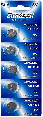 EUNICELL-  Piles Lithium 3 volt CR1220 BR1220 DL1220 ECR1220 PA 5012LC