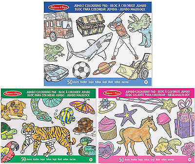 Melissa & Doug JUMBO COLOURING PAD Toddler/Child Craft/Colouring Gift