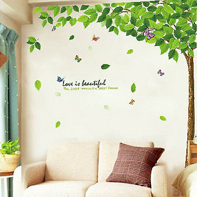 New Removable Tree Art Vinyl Quote Butterfly Wall Sticker Decal Mural Room Decor