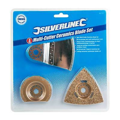 Silverline Oscillating Multi-Tool Ceramic Tile Grout Removing Blade Set
