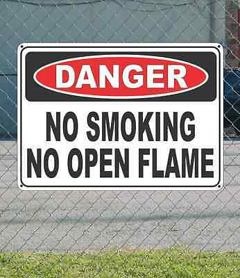 "DANGER Oxygen No Smoking or Open Flame - OSHA Safety SIGN 10"" x 14"""