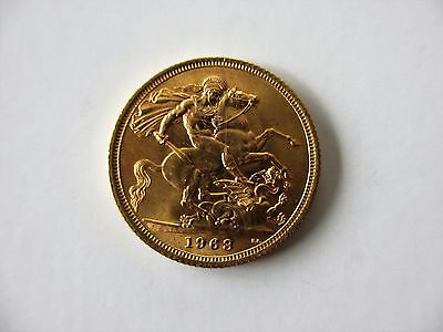1963 Queen Elizabeth Full Gold Sovereign Uncirculated Superb Condition