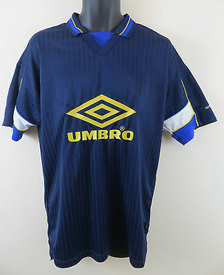 Vtg Umbro Football Shirt Retro 90s Scotland Style Soccer Jersey Large L 43""