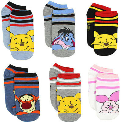 Winnie the Pooh Toddler/Girls/Teens/Womens 6 pack Socks PH007JFN PH007GFN
