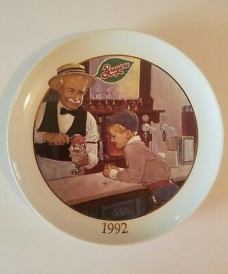 Vintage Old Fashioned BREYERS Shop Ice Cream Plate 1992 NDPC Limited Edition