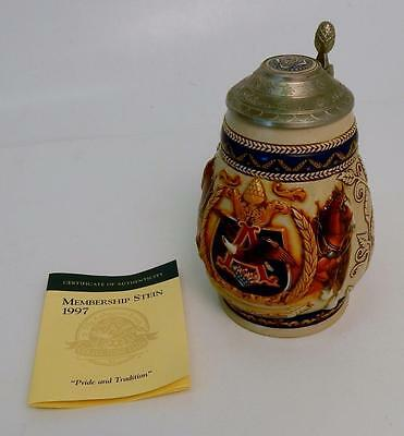1997 Anheuser-Busch Collectors Club Membership Stein Pride and Tradition CB5