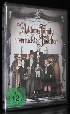 Dvd Die Addams Family In Verrückter Tradition - Raul Julia + Anjelica Huston Neu