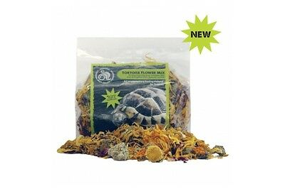 Komodo Tortoise Flower Mix 60g - complementary marigold, rose, sunflower food