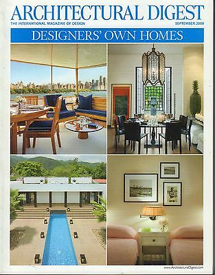 Architectural Digest September 2008 Designers Own Homes 021617DBE2