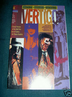 DC VERTIGO  PREVIEW.1992 featuring SANDMAN, DEATH,  HELLBLAZER, CONSTANTINE etc.