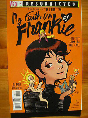 MY FAITH IN FRANKIE 1. 100 page ONE-SHOT. CAREY & LIEW. VERTIGO RESURRECTED.2011