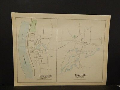 Conneticut, Hartford County Map, Wetherfield Double Sided Double page 1893 R4#81