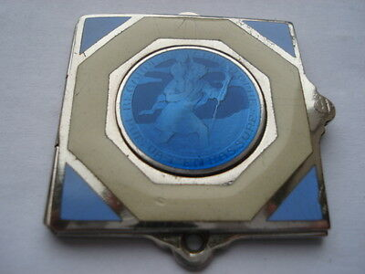 C1930S Regarde St Christopher And Go Your Way In Safety Enamel Dashboard Plaque