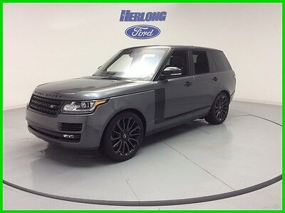 2016 Land Rover Range Rover BLACK PACK SUPERCHARGED V8 4WD BLACK ROOF 16 Range Rover Black Roof DVD Navigation Sunroof V8 Corris Grey Clean Carfax