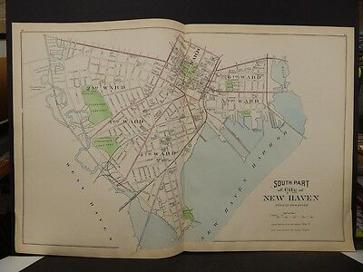 Conneticut, New Haven County Map City of New Haven  2-Dbl Pg 1893 R4#86